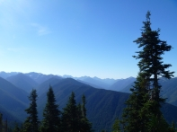 1st real glimpse of the Olympic Range