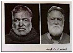 (Hemingway on left/ Bill on right
